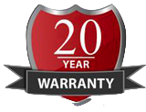 20 year No-Clog Warranty!
